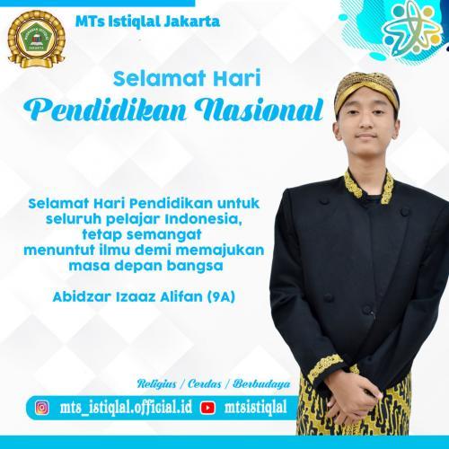 Hari Pendidikan Nasional - Madrasah Tsanawiyah Istiqlal Jakarta Abidzar Izaaz Alifan