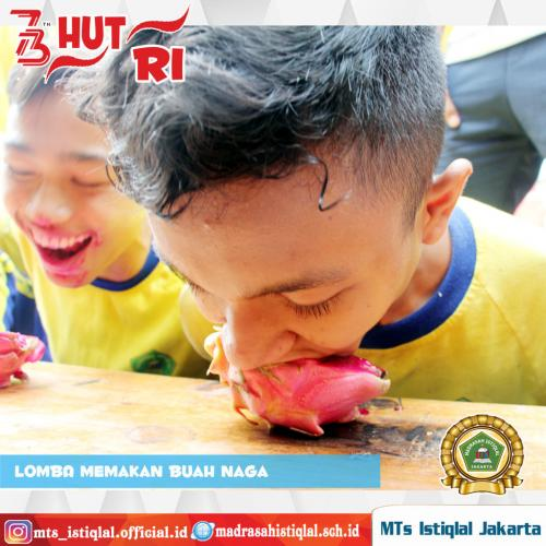 Lomba Memakan Buah Naga 2 - Madrasah Tsanawiyah Istiqlal Jakarta