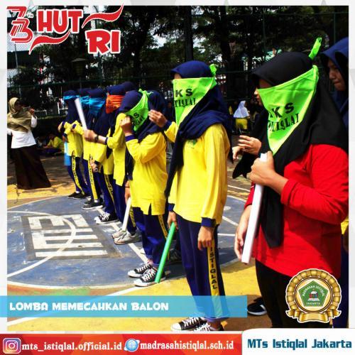 Lomba Memecahkan Balon - Madrasah Tsanawiyah Istiqlal Jakarta